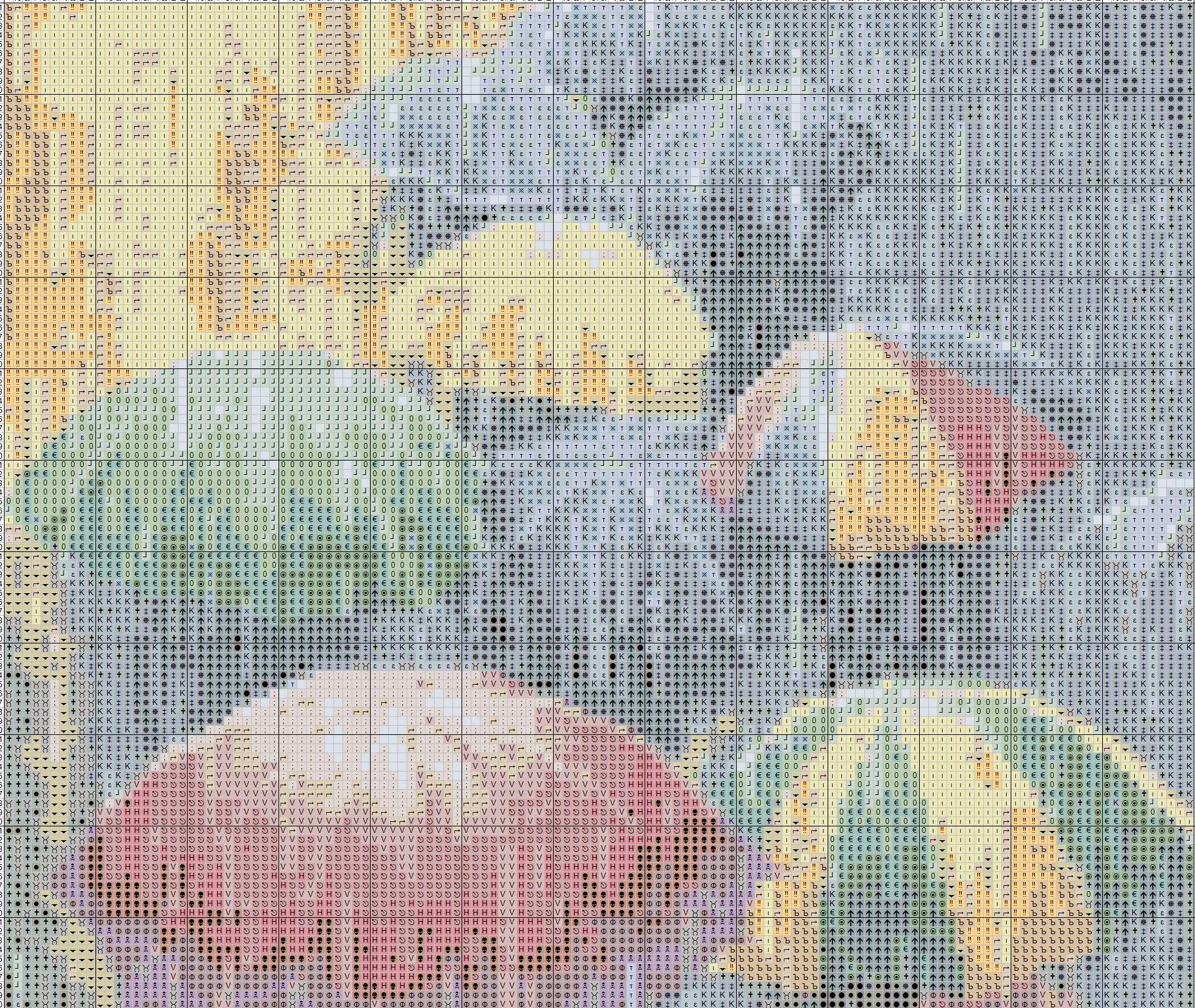Вышивка крестом зонтики 10