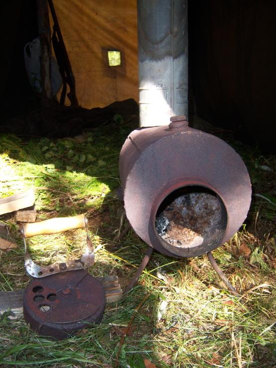 мини печь в палатку рыбака