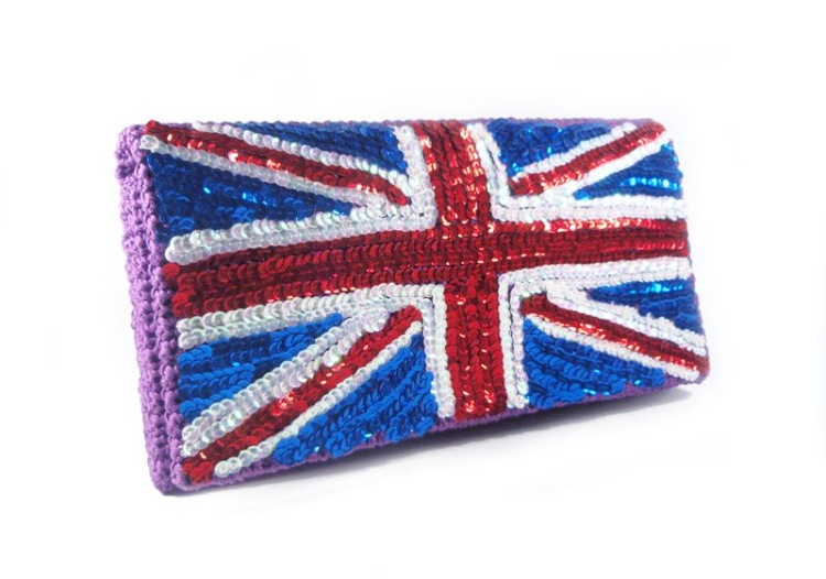 Клатч с британским флагом Журнал для.