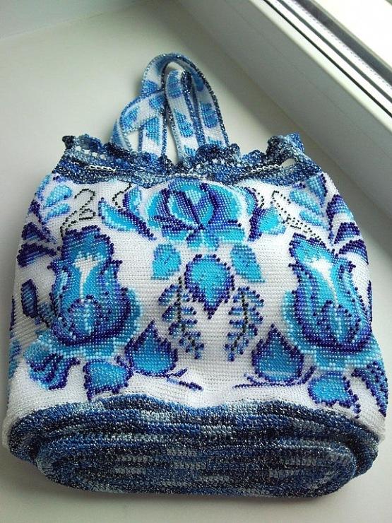 сумка вязаная бисерные страна мастеров - Сумки.